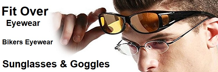 mens fit over sunglasses goggles bikers eyewear banner