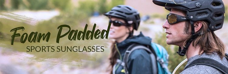 foam padded sunglasses banner bikers eyewear