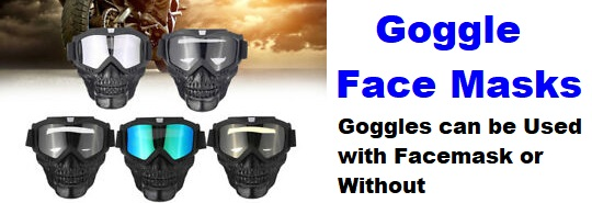 goggle facemasks bikers eyewear