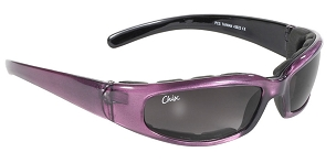 Chix Rally Foam Purple Sunglasses Smoke Lenses