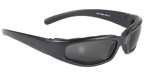 Rally Wrap Sunglasses Foam Padded Smoke Lens