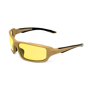 Maxx SS2 ANSI Sunglasses Yellow Lenses Brown Frame
