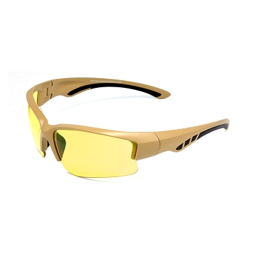 Maxx SS3 ANSI Sunglasses Yellow Lenses Brown Frames