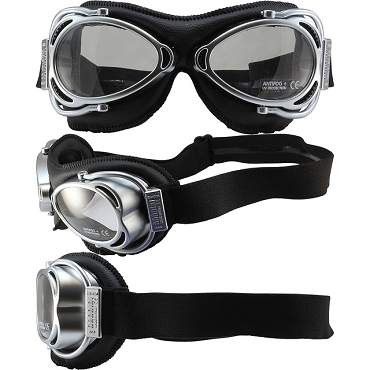 Nannini Street Fighter Motorcycle Goggles Clear Lenses