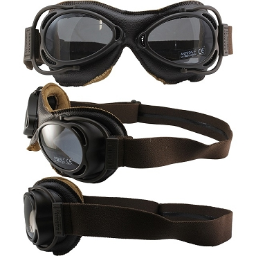 Nannini Street Fighter Motorcycle Goggles Smoke Lens