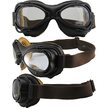 Nannini Street Fighter Motorcycle Goggles Clear Lens