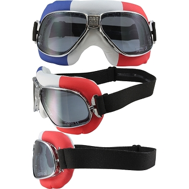 Nannini Cruiser French Flag Motorcycle Goggles