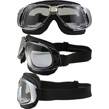 Nannini Rider Motorcycle Goggles Clear Lenses