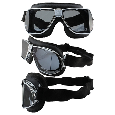 Nannini Custom Motorcycle Goggles Smoke Lenses