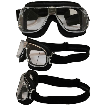Nannini Custom Motorcycle Goggles Clear Lenses