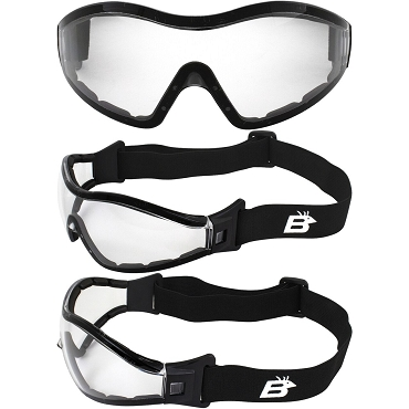 Boogie ANSI Foam Padded Goggles Clear Lenses