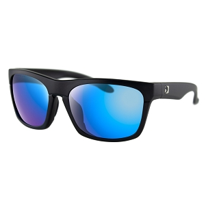 Bobster Sunglasses Black Frame Light Blue Mirror Lenses