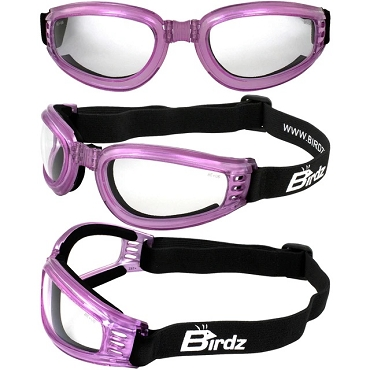 Cardinal Pink Foam Padded Goggles Clear Lenses