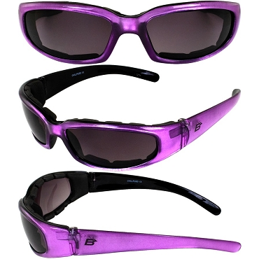 Chill Biker Sunglasses Purple Frame Dark Lenses