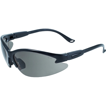Contender Safety Glasses Black Frame Smoke Lenses