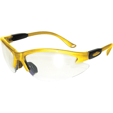 Contender Safety Glasses Yellow Frame Clear Lenses