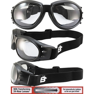 Eagle Photochromic Motorcycle Goggles
