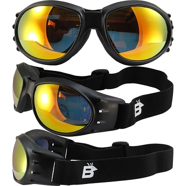 Eagle Vented Goggles with Orange Mirror Lenses