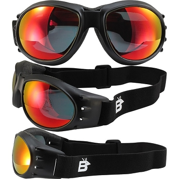 Eagle Vented Goggles with Red Mirror Lenses
