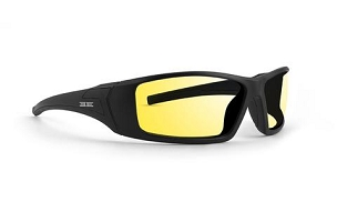 Epoch 3 Sunglasses Black Frame Yellow Lenses
