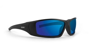 Epoch 3 Sunglasses Black Frame Blue Mirror Lenses
