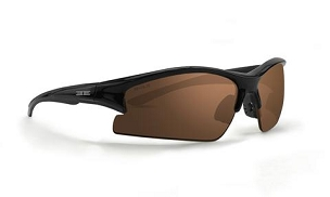 Epoch Brodie Sunglasses Black Frame Brown Lenses