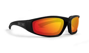 Epoch Foam Black Sunglasses Red Mirror Lenses