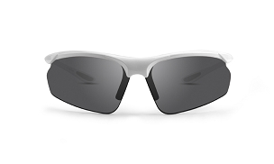 Epoch 6 Smoke Lens Sunglasses White Frame