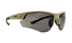 Epoch Grunt Tactical Sunglasses Tan Frame Smoke Lens