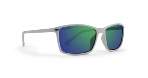Murphy White Sunglasses Polarized Green Lenses