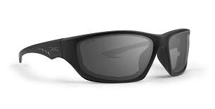 Epoch Foam 3 Black Stud Accent Sunglasses Smoke Lenses
