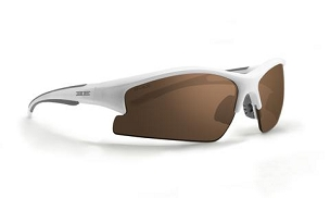 Epoch Brodie Sunglasses White Frame Brown Lenses
