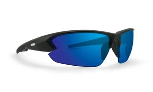 Epoch 4 Sunglasses Black Frame Blue Mirror Lenses