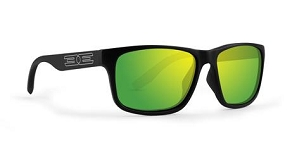 Epoch Delta Green Polarized Sunglasses Black Frame