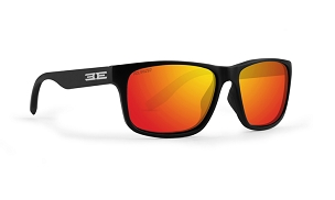 Epoch Delta Orange Mirror Polarized Sunglasses Black Frame