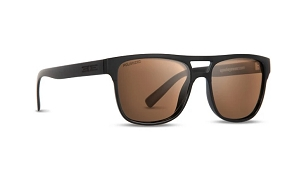 Epoch Oscar Black Sunglasses Polarized Brown Lenses