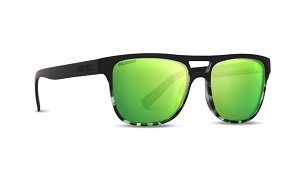 Epoch Oscar Black Sunglasses Polarized Green Lenses