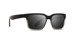 Epoch Romeo Black Crystal Sunglasses Polarized Smoke Lenses