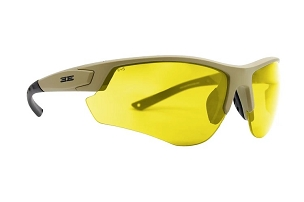 Epoch Grunt Tactical Sunglasses Tan Frame Yellow Lens