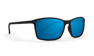 Murphy Blue Mirror Polarized Sunglasses Black Frame