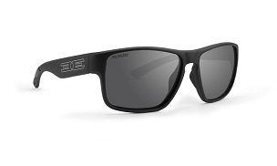Epoch Charlie Smoke Polarized Sunglasses Black Frame