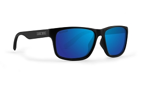 Epoch Delta Blue Mirror Polarized Sunglasses Black Frame