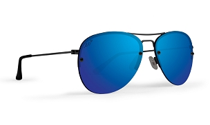 Sunglasses Metal Frame Polarized Blue Mirror Lens