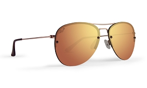 Sunglasses Metal Frame Polarized Rose Gold Lens