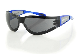 Bobster Shield II Sunglasses Blue with Smoke Lenses