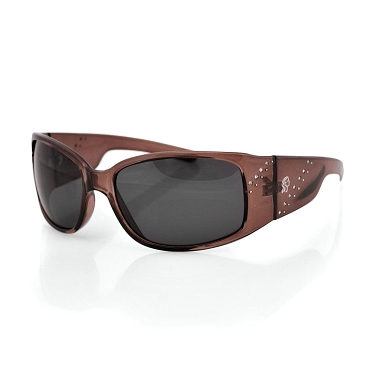Women's Sunglasses Brown Frame Smoke Lens