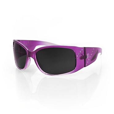 Women's Sunglasses Purple Frame Smoke Lens