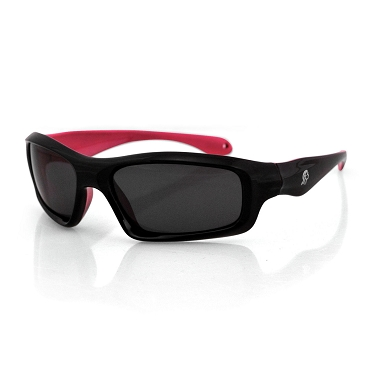 Women's Sunglasses Black/Pink Frame Smoke Lens