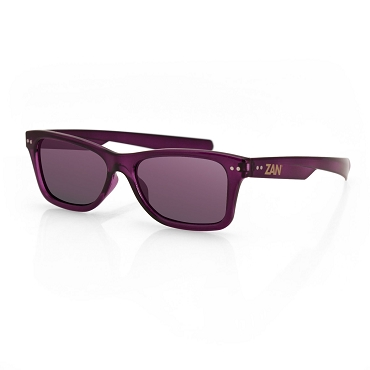 Sunglasses Wine Frame Smoke Purple Mirror Lens