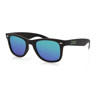 Winna Black Sunglasses Smoked Green Mirror Lens